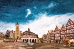 Marktplatz 1700 Jhd.