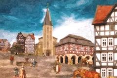Marktplatz um 1500
