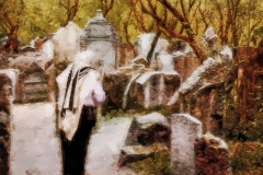 Gebet auf dem Friedhof