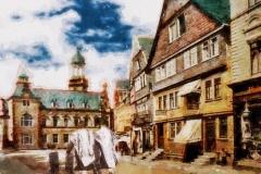 Poststraße-Auf dem Weg zur Synagoge